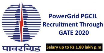 PowerGrid Recruitment Through GATE 2020