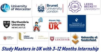 Study Masters in UK with Internship