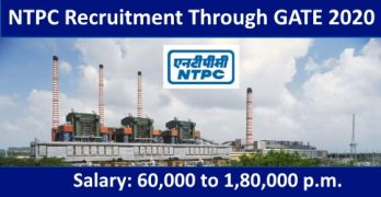 NTPC Recruitment Through GATE 2020