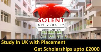 Study with Placement at Solent University 2021 Intake