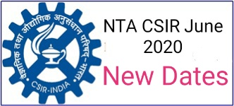 CSIR NET June 2020 New Dates