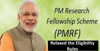 PMRF Scheme 2020 Revised Eligibility