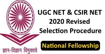 Revised NET JRF Selection Procedure For SC
