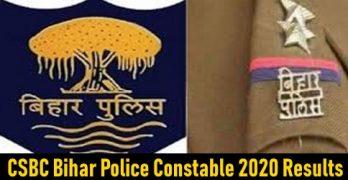 CSBC Bihar Police Constable 2020 Results