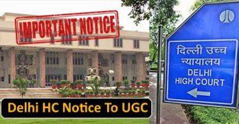 Delhi HC Notice To UGC