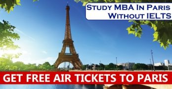Study MBA In Paris Without IELTS