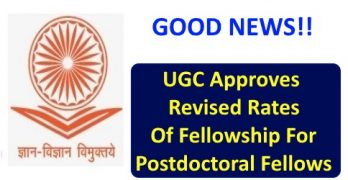 UGC Approves Revised Rates of Fellowship