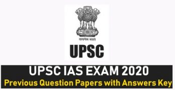 UPSC IAS Previous Papers with Answers Key