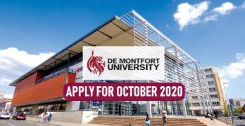 Study In UK De Montfort University October 2020