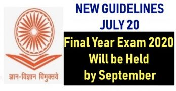 UGC New Guidelines July 2020