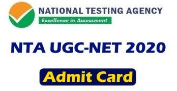 NTA UGC NET Admit Card 2020