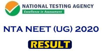 NEET UG Result 2020