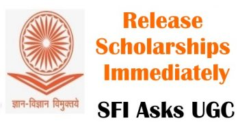 SFI Asks UGC to Release Scholarships Immediately