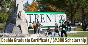 Trent University With Scholarship for Jan 2021