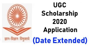 UGC Scholarship 2020 Application