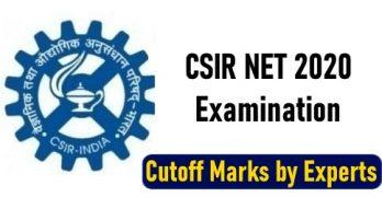 CSIR NET 2020 Cutoff
