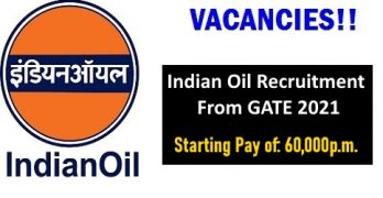 Indian Oil Recruitment From GATE 2021