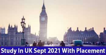 Study In UK September 2021 With Placement