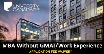 MBA Without GMAT and Work Experience In Canada