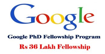 Google PhD Fellowship Program 2021