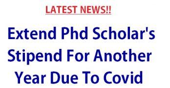 Extend PhD Scholars Stipend